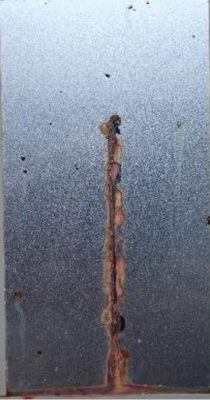 Cold-rolled steel with ASCONIUM - 200h of salt spray