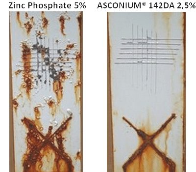 Comparative test between ASCONIUM® 142DA and Zinc Phosphate